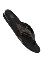 REEF Fanning Prints Sandals black/tan