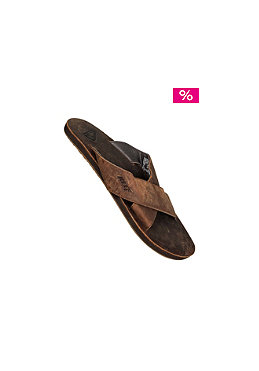 REEF Leather Cros Strap Sandals bronze/brown