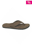 REEF Lthr Smoothy Sandals brown