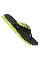 REEF Rodeoflip Sandals black / lime gr