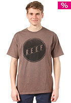 REEF Simple S/S T-Shirt brown heather