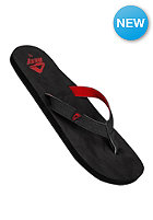 REEF Slim Smoothy Sandals black/red