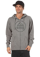 REEF Vintage Circle Hooded Zip Sweat gunmetal heather