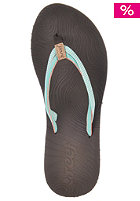 REEF Womens Double Zen Sandals brown/aqua/cora