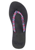 REEF Womens Ginger Drift Sandals black/hot pink