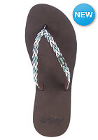REEF Womens Ginger Drift Sandals brown/aqua/white