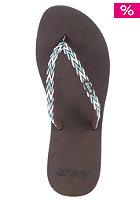 Womens Ginger Drift Sandals brown/aqua/white