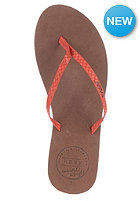 REEF Womens Leather Uptown Sandals red/brown