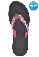 REEF Womens Mallory Sandals black/hot pink/
