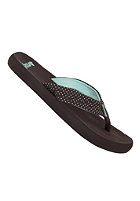 REEF Womens Seaside Solid Sandals brown/aqua dots
