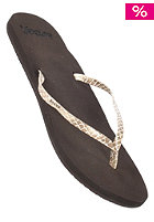 REEF Womens Uptown Sandals brown/tan/snake