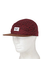 REELL 5 Panel Cap Wildlife burgundy
