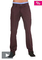 REELL Chino II Pant wine red