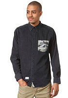 REELL Clean Cut Unique L/S Shirt black