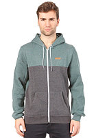 REELL Duo Hooded Zip Sweat green-black