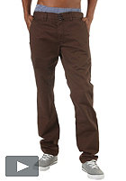 REELL Grip Tapered Chino Pant chocolate brown