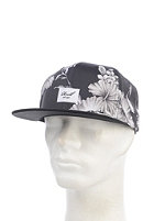 REELL Night 6-Panel Snapback Cap black/white