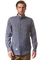 REELL Oxford Indigo L/S Shirt mid blue