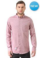REELL Oxford L/S Shirt burgundy