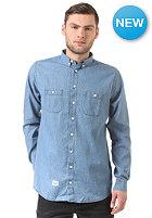 REELL Polkadot Denim L/S Shirt light blue