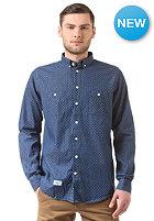 REELL Polkadot Denim L/S Shirt mid blue