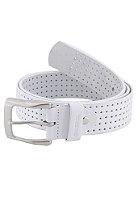 REELL Punched Leather Belt white