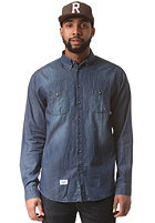 REELL Washed Denim L/S Shirt light blue