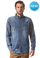 REELL Washed Denim L/S Shirt mid blue