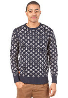 REVOLUTION IAN Knit Sweat navy