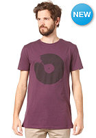 RHYTHM Bad Records S/S T-Shirt plum