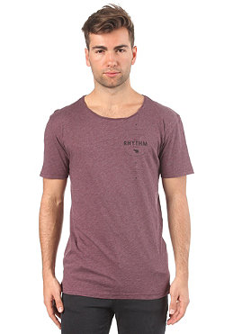 RHYTHM Label S/S T-Shirt plum marle