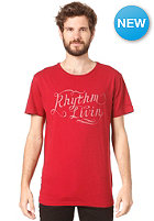 RHYTHM Lines S/S T-Shirt dusted red