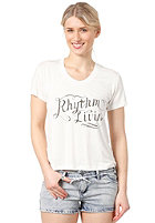 RHYTHM Womens Lines S/S T-Shirt white