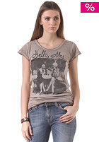 RICH&ROYAL Womens Hello Mrs S/S T-Shirt taupe