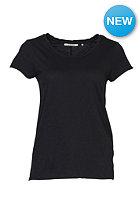 RICH&ROYAL Womens Slub S/S T-Shirt black