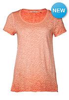 RICH&ROYAL Womens Slub S/S T-Shirt bright coral