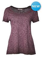 RICH&ROYAL Womens Slub S/S T-Shirt plum
