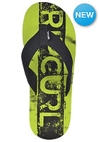 RIP CURL Bob Cush Sandals black/lime