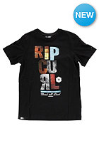 RIP CURL Kids Block Script L/S T-Shirt black