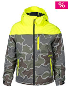 RIP CURL Kids Enigma Printed Snowboard Jacket safety yellow