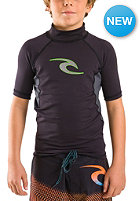 RIP CURL Kids Flashbomb S/SL Rash V black/charcoal