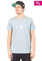 RIP CURL Remix Icon S/S T-Shirt milky blue marl