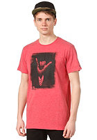 RIP CURL Shaka S/S T-Shirt tango red marle