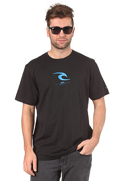RIP CURL Small Icon S/S T-Shirt 2012 black/blue
