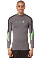 RIP CURL Stripe L/S Rash Vest charcoal/black/