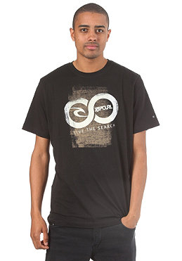 RIP CURL Washed LTS S/S T-Shirt black