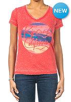 RIP CURL Womens California S/S T-Shirt aurora red