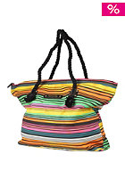 Womens Ocean Stripes Beach Bag solid black