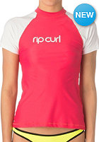 RIP CURL Womens Sunny Days Relaxed S/S hot pink/white