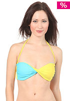 ROXY Color Block Twist Bandeau Bikini Halter sunglow yellow